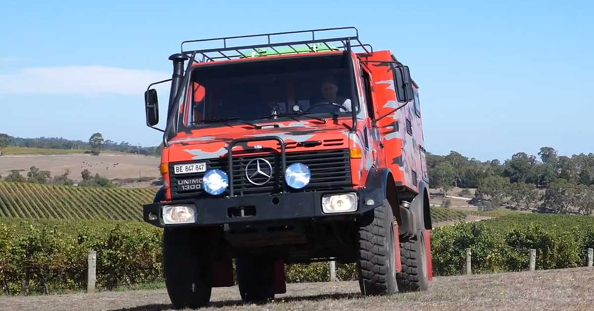 Fred and his Unimog tour Australia