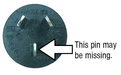 Missing earth pin - recall