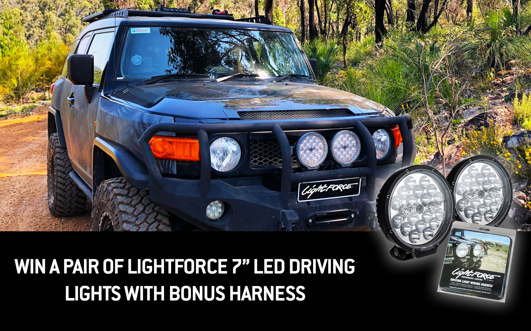 Lightforce 7 Inch LED Driving Lights Giveaway