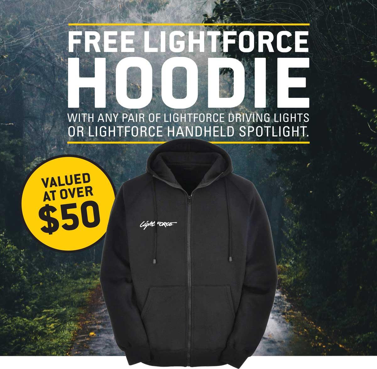 Free Lightforce Hoodie Offer