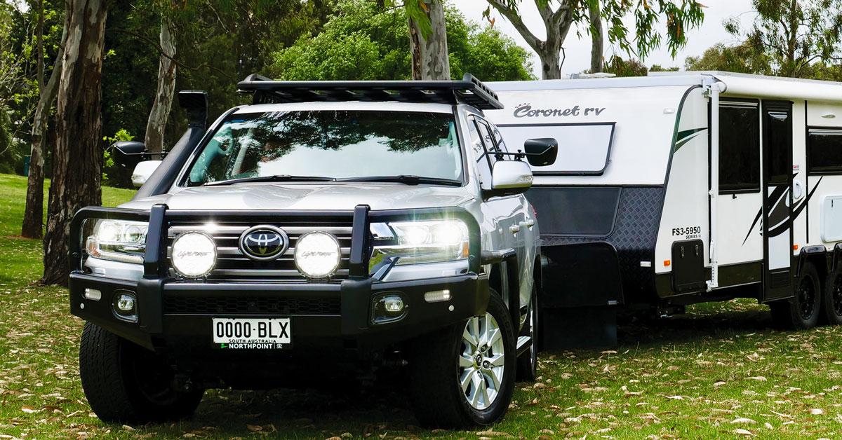 Lightforce driving lights for caravans