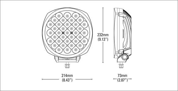 Genesis LED Dimensions