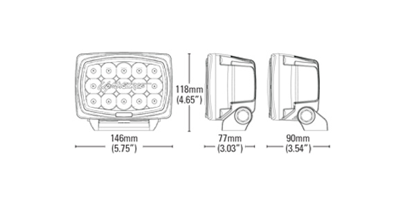 Striker LED Dimensions