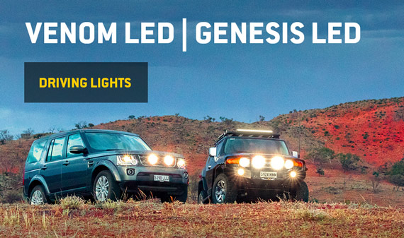 Venom LED Genesis LED two four wheel drives in outback